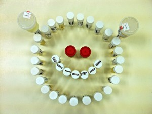 Happy Smiley Face from Urine Samples