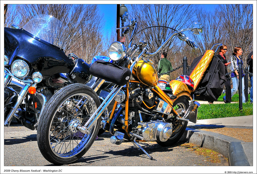 Cool Bike @Vietnam Memorial Wall