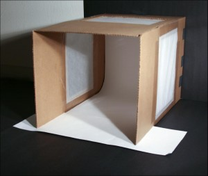 My first atempt at making a quick light tent/box