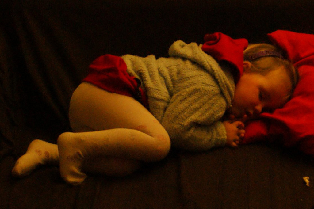 Sick Anna sleeping