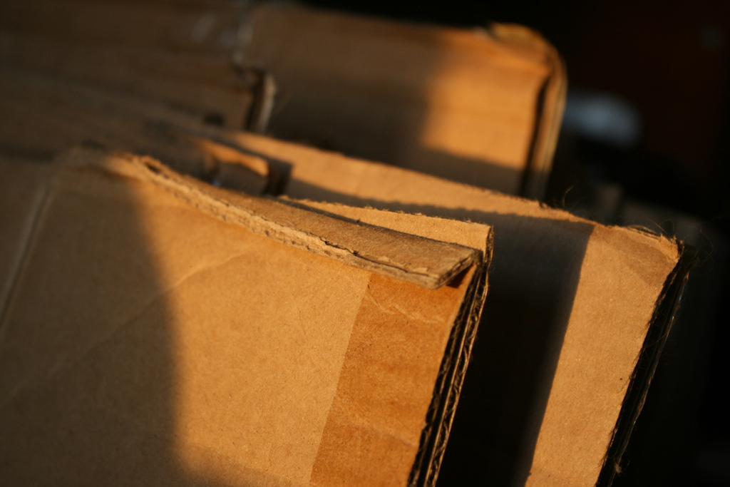 Sunset on boxes